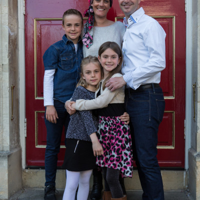 Family surprise  portrait