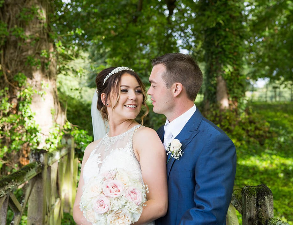 Husband and Wife pictured in Hexton Manor Gardens