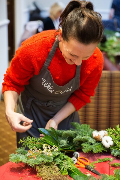 Luxury Christmas Wreaths workshop at Woburn Hotel