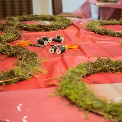 Luxury Christmas Wreaths workshop at Woburn Hotel